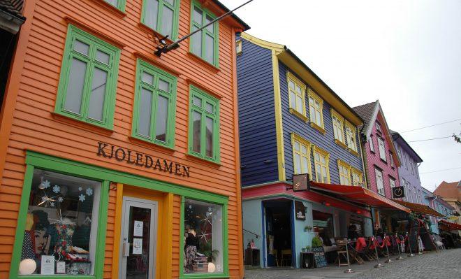 Calle de colores en Stavanger