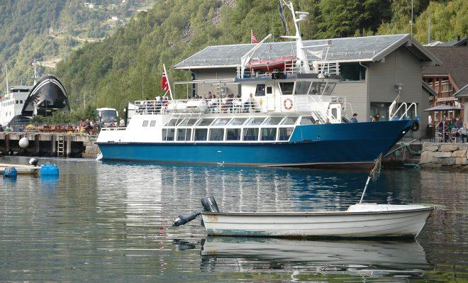 Barco en Geiranger