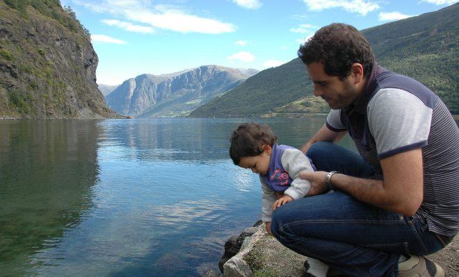 Daniel y Oscar en Naerofjord