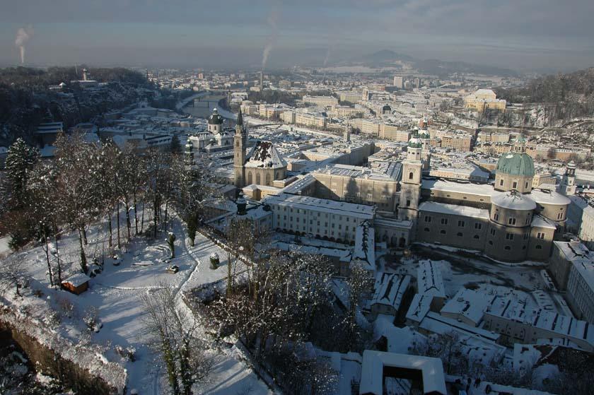 Salzburgo desde las alturas