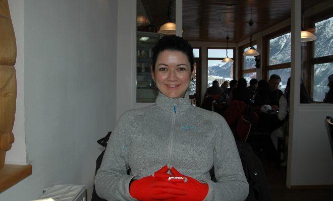 Comiendo en Hallstatt