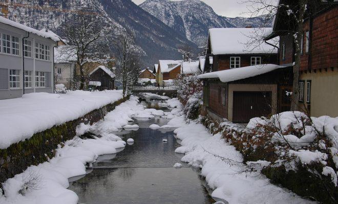 Riachuelo en Hallstatt