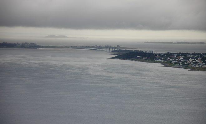 Vistas de la bahía de Alesund