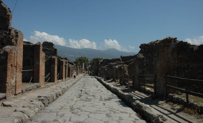 Un calle de Pompeya