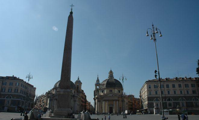 Obelisco en la Piazza del Poppolo