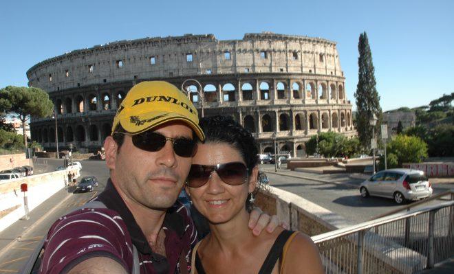 Selfie en el Coliseo