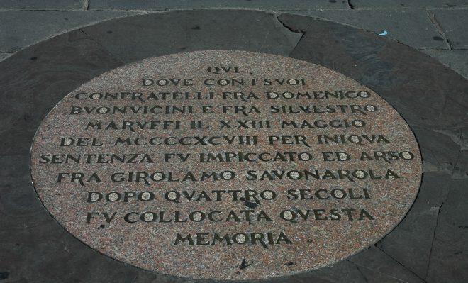 Placa en Florencia