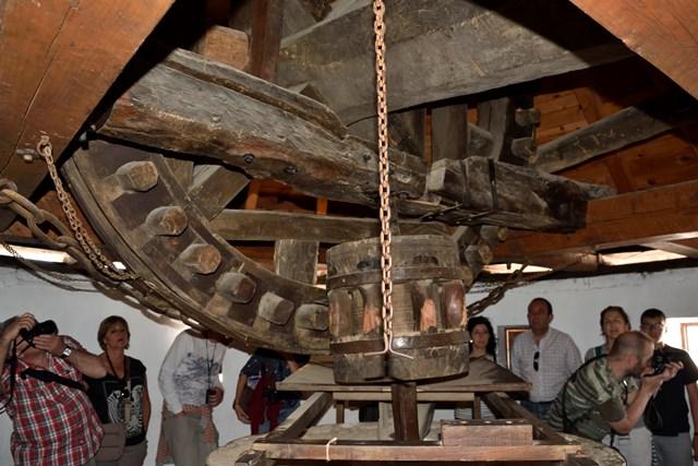 Detalle del mecanismo de un molino