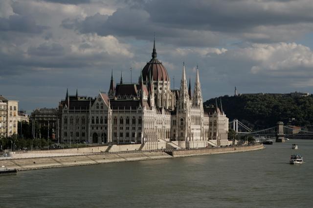Vistas de la fachada del Parlamento