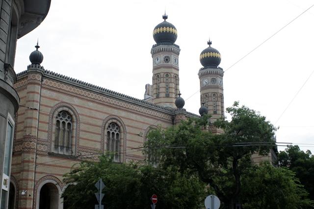 Fachada exterior de la Sinagoga de Budapest