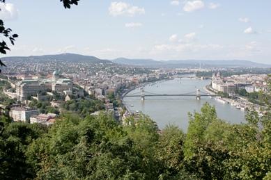 Vistas de la ciudad desde la colina Géllert