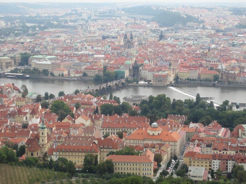 Vistas de Praga desde la Torre Petrin