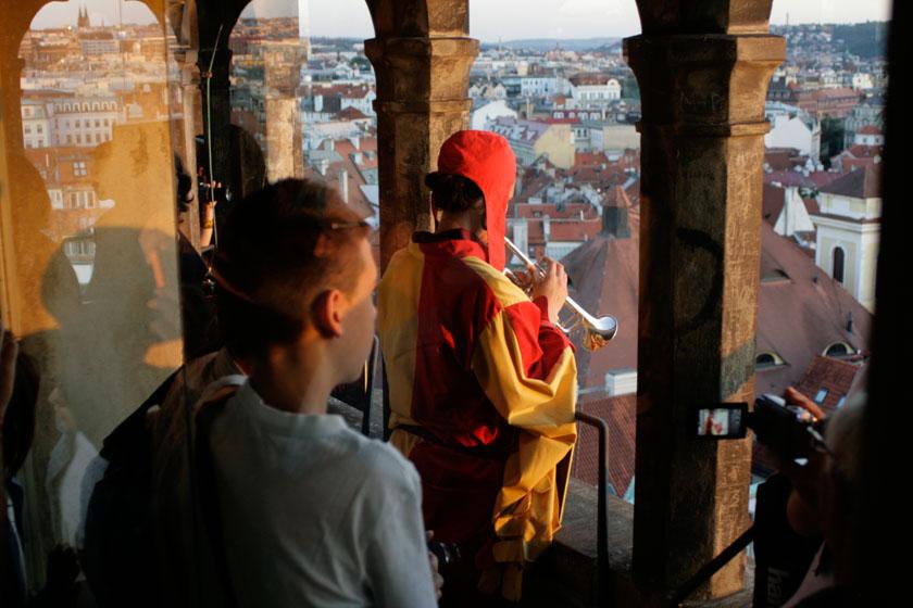 Trompetista del reloj de Praga