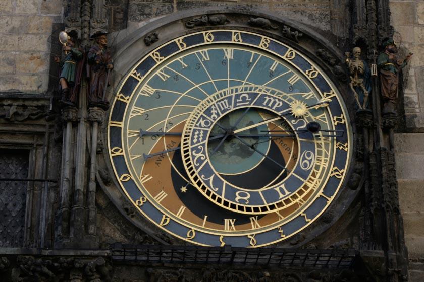 Calendario astronómico del reloj