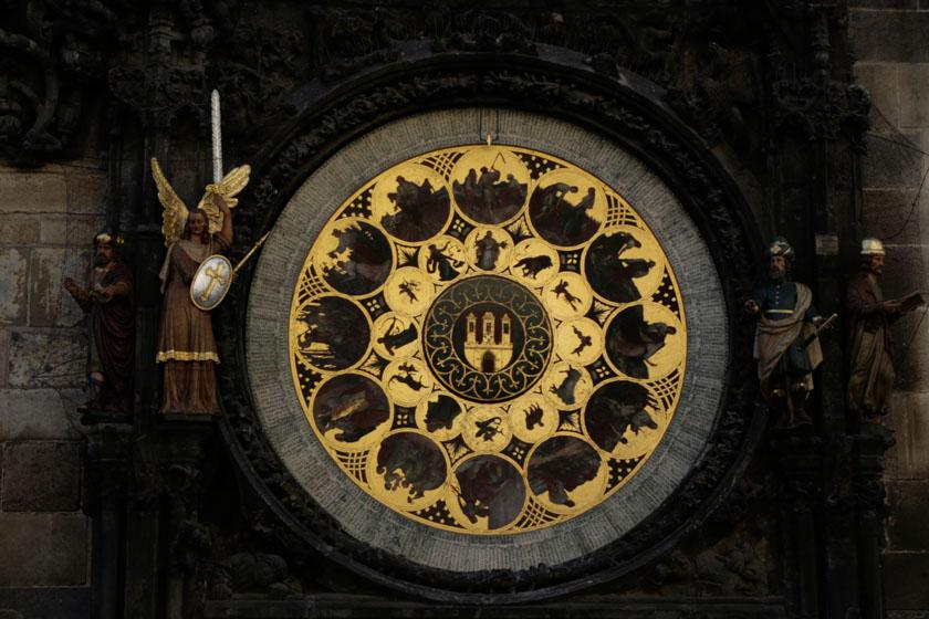 Calendario circular del reloj