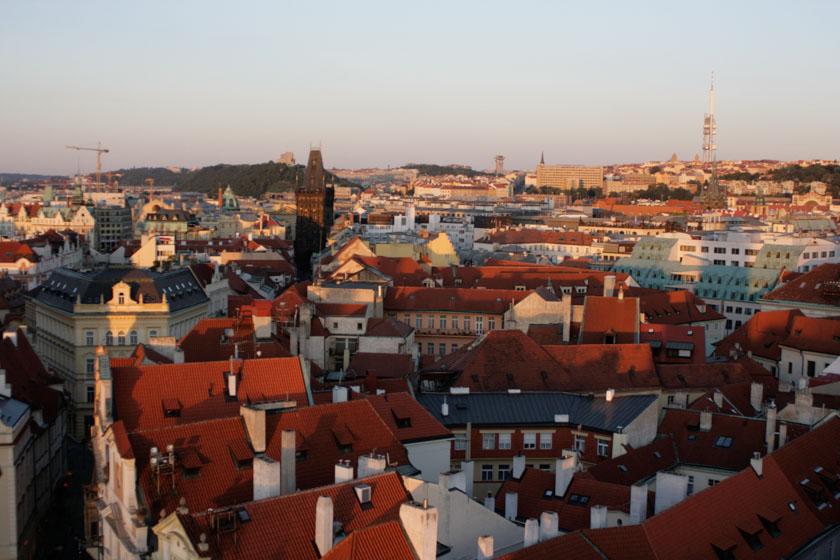 Vistas de Praga desde el reloj