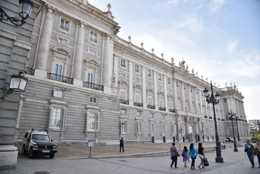 Fachada lateral del Palacio Real de Madrid
