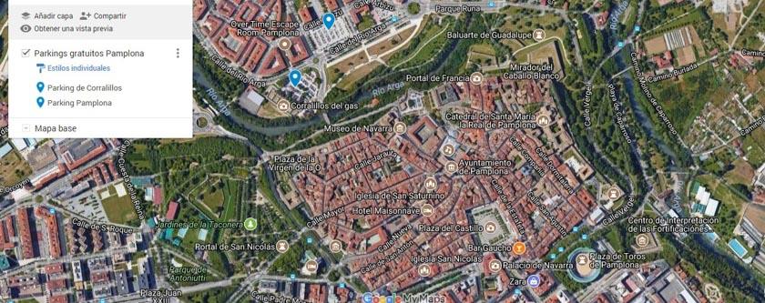 Parkings gratuitos en Pamplona