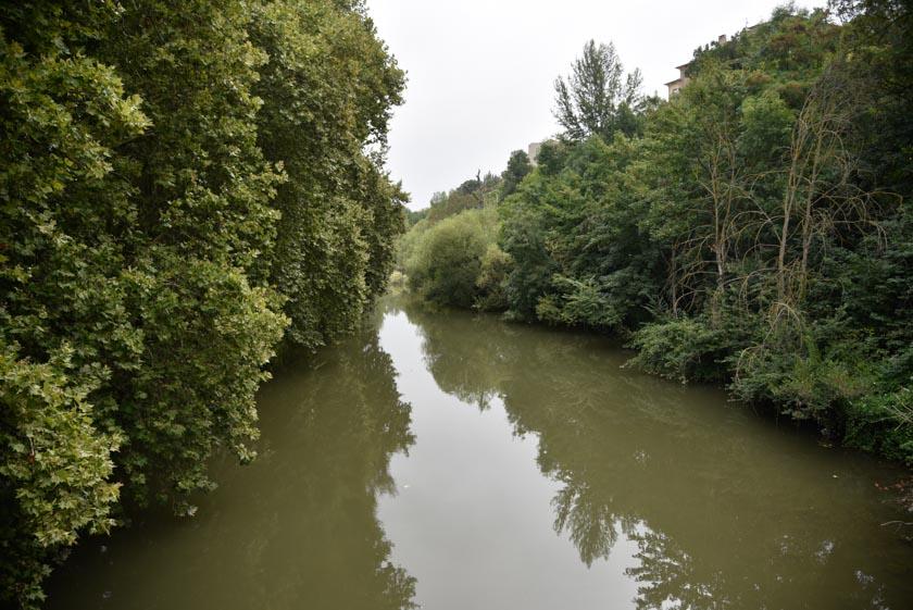Río Arga en Pamplona
