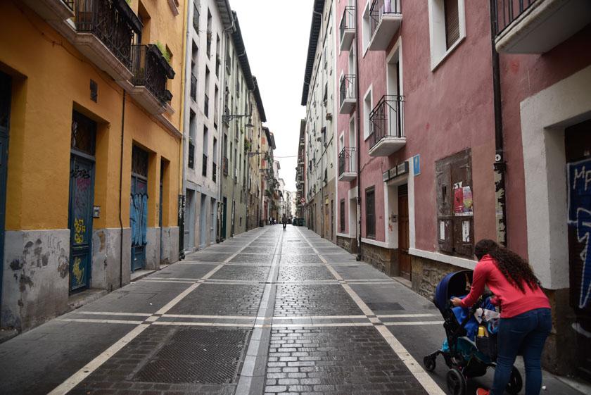 Lluviosa mañana en Pamplona