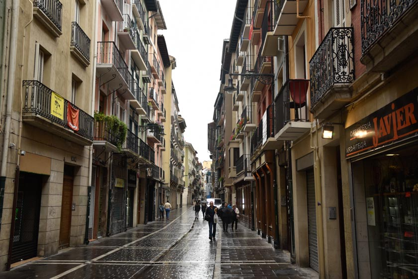 Calle cualquier de Pamplona