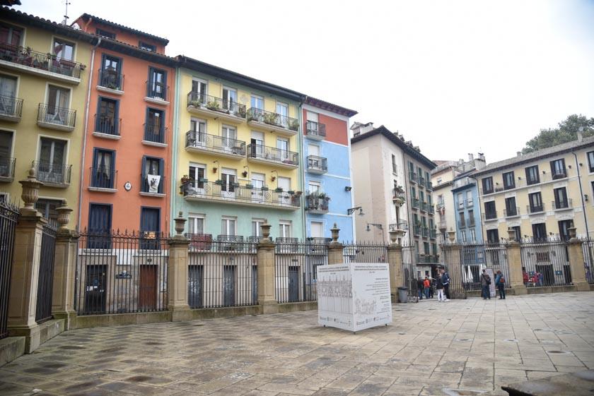 Preciosos edificios pegados a la Catedral de Pamplona