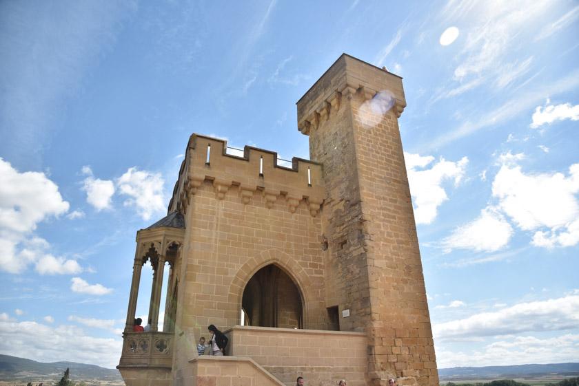 Una de las torres del Palacio