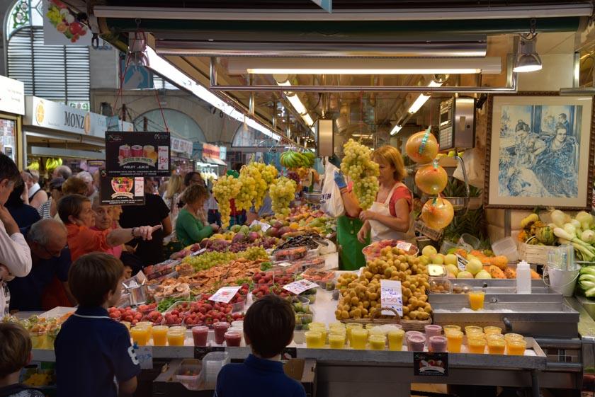Puestos de fruta del Mercado Central