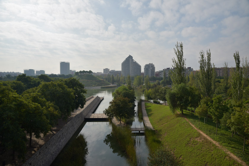 Valencia vista desde la pasarela del Bioparc