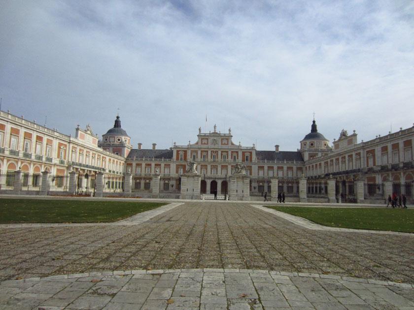 Fachada exterior del Palacio de Aranjuez