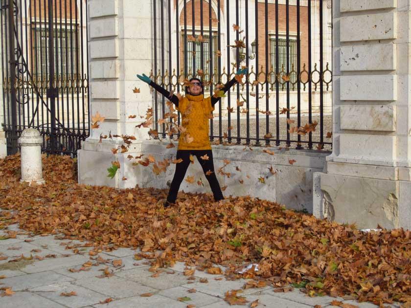 Laura disfrutando del otoño