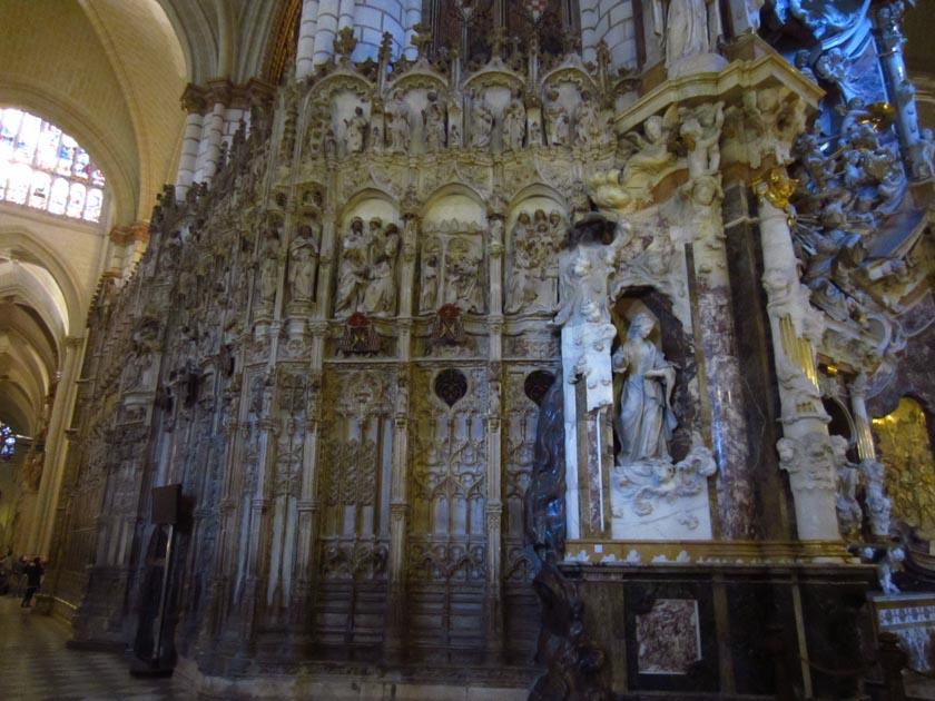 Uno de los muchos detalles de la Catedral de Toledo