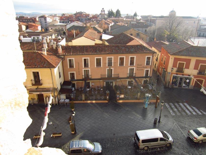 Vistas del hostal desde la Muralla de Ávila