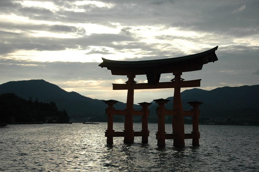 Torii flotante en la isla de Miyajima