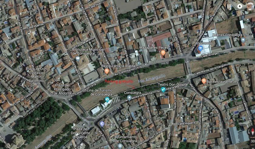 Lugar donde dejamos el coche en Consuegra