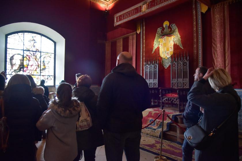 Sala del Trono del Alcázar de Segovia