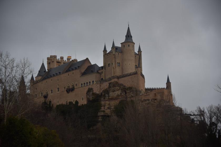 Vista del Alcázar desde un mirador