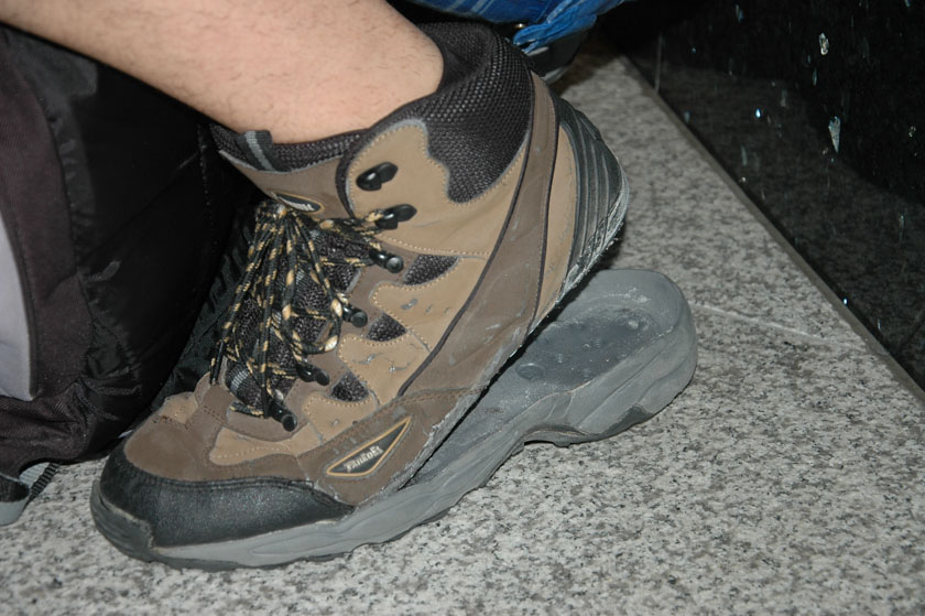 Mis zapatos se negaron a andar más en nuestro primer día en Tokio