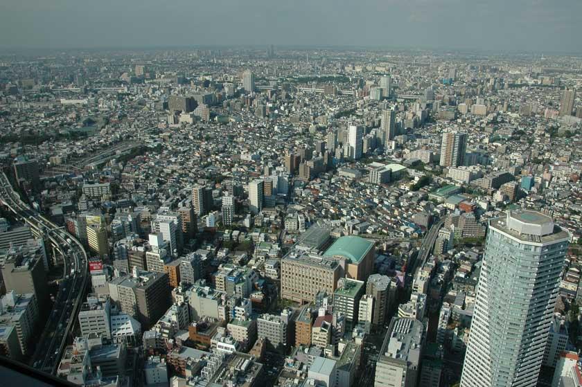 Vistas de Tokio desde la torre Sunshine 60