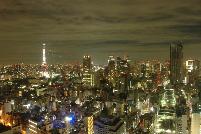 Preciosas vistas de Tokio desde nuestra habitación