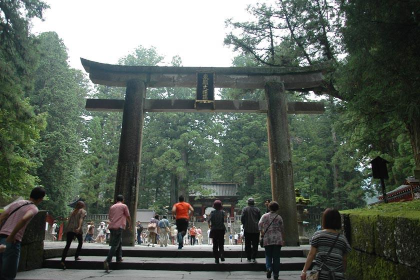 Torii situado a la entrada de los templos de Nikko