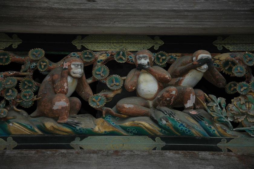 Aquí vemos a los monos en cuestión