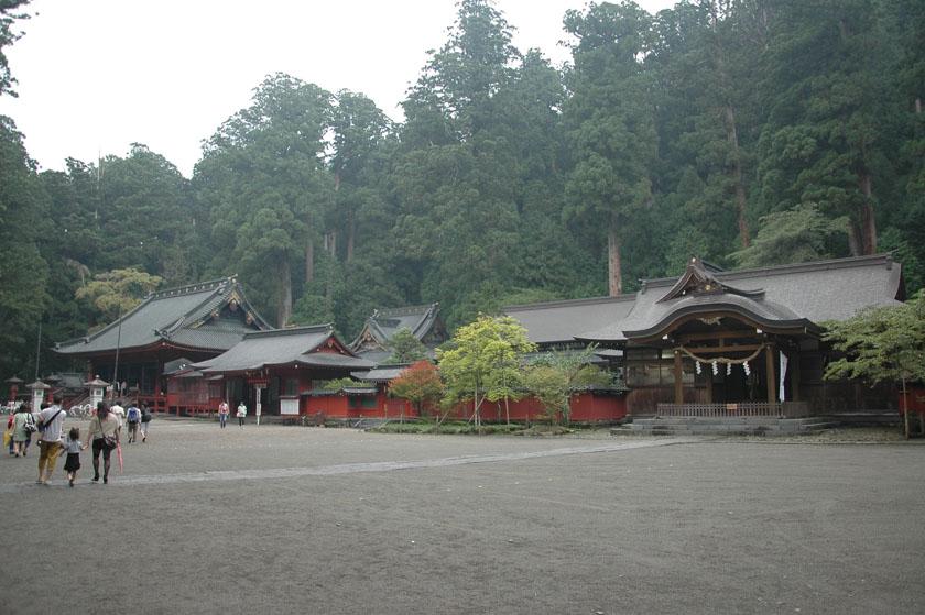 Panorámica del santuario de Futarasan
