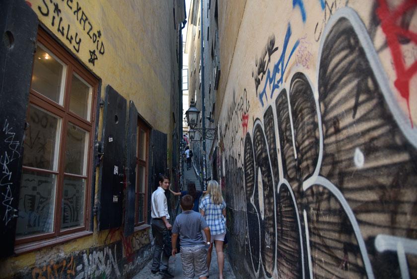 Os presento la calle más estrecha de Estocolmo
