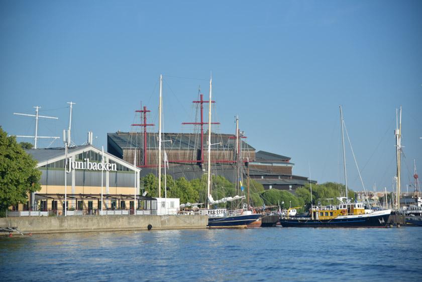 Museo Vasa visto desde nuestro paseo en barco