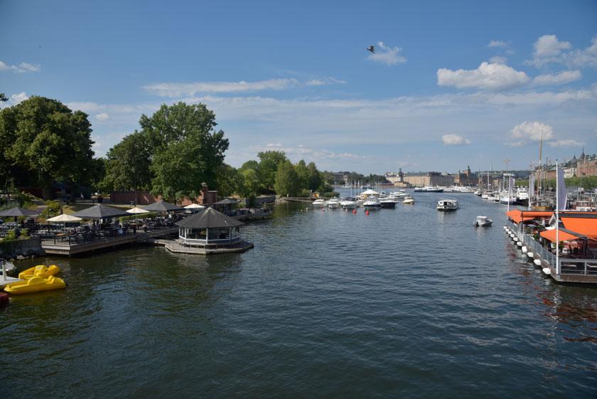 Bahía de Estocolmo vista desde el puente de Djurgarden