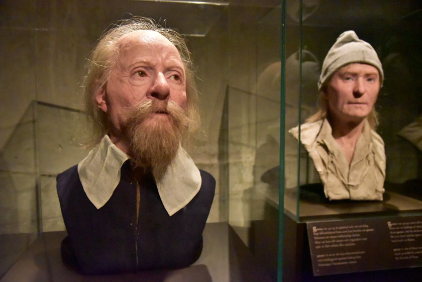 Representaciones en cera de la tripulación del Vasa