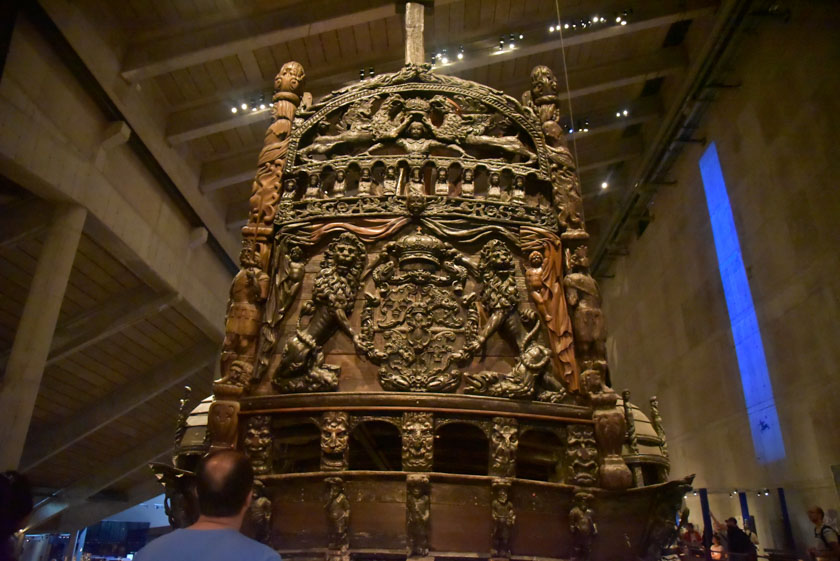 El Vasa tiene una popa espectacular