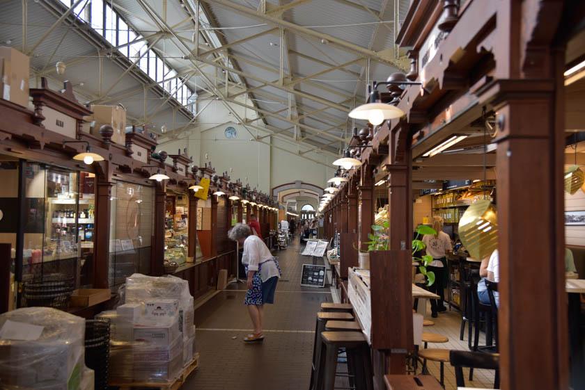 Uno de los pasillos del mercado viejo