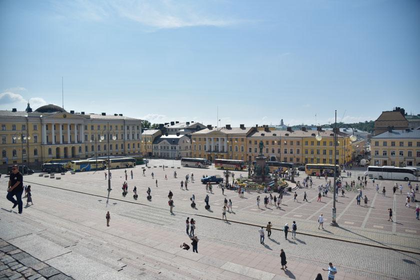 Así es la Plaza del Senado vista desde la Catedral